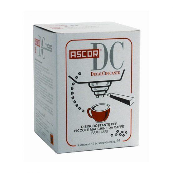 Καθαριστικό Αλάτων Μηχανής Ascor DC. Συσκευασία 12 φακελάκια 25 γρ. Κατάλληλο για οικιακές μηχανές καφέ.